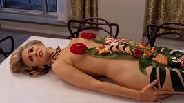 Americká herečka Amy Sedaris (56) coby obložená mísa