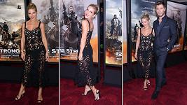 Herečka Elsa Pataky (41) se stala ozdobou newyorské premiéry filmu 12 Strong, ve kterém hrála ona i její manžel Chris Hemsworth (34).