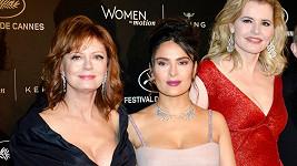 Susan Sarandon, Salma Hayek a Geena Davis v Cannes