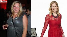 Dee Oliver před a po dietě.