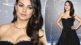 Mila Kunis na premiéře nového sci-fi Jupiter vychází