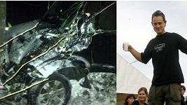 Jakub Vytáček se zřítil autem z útesu.