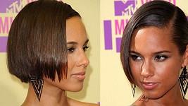 Alicia Keys s novými vlasy.