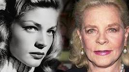 Lauren Bacall v době své největší slávy a dnes.
