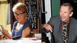 Irena Obermannová a Václav Havel
