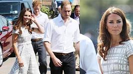 Princezna Catherine v šatech za pár stovek vypadala kouzelně jako vždy.