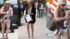 Hilary Duff bývala velmi štíhlá, jak je vidět na fotografii uprostřed.