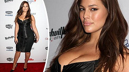 Ashley Graham na párty Sports Illustrated