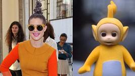Kelly jako Laa-Laa z dětského pořadu Teletubbies.