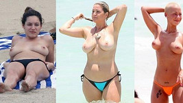 Zleva: Kelly Brook, Josie Goldberg a Amber Rose.