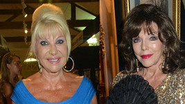 Ivana Trump vs. Joan Collins.