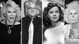 Na věčnost letos odešli Joan Rivers, Philip Seymour Hoffman, Shirley Temple-Black či vévodkyně z Alby.