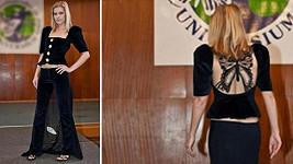 Model šatů pro Báru Basikovou
