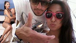 Michal a jeho exotická přítelkyně Togi.