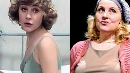 Veronika Gajerová ve své první velké roli na konci sedmdesátých let a dnes.