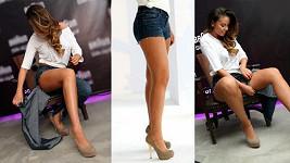Tento trik by Monika Bagárová mohla převádět častěji klidně i s jinými díly oblečení.