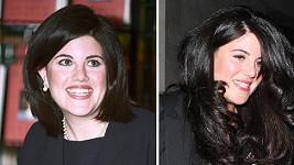 Monica Lewinsky v roce 1999 a dnes.