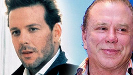 Mickey Rourke v roce 1986 a dnes.
