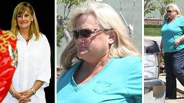 Debbie Rowe v roce 1996 a dnes.