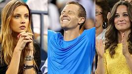 Výkon Tomáše Berdycha sledovala jeho partnerka Ester i Pippa Middleton.