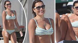 Alena Šeredová na dovolené v Miami.