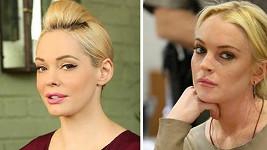 Rose McGowan a Lindsay Lohan si jsou nápadně podobné.