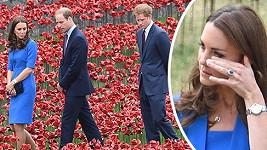 Vévodkyně Catherine se neubránila dojetí.