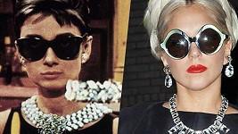 Audrey Hepburn a Lady Gaga.