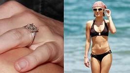 Kate Bosworth a její zásnubní prsten.