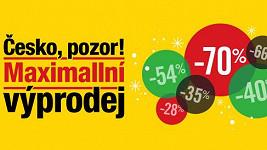 Česko, pozor: Maximallní výprodej je tady!