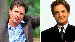 Michael J. Fox před dvaceti lety a dnes