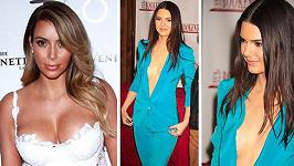 Kim Kardashian a Kendall Jenner mají zcela odlišné postavy.