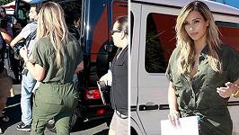 Kim Kardashian jako maminka.