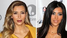 Kim Kardashian v rozmezí sedmi let.