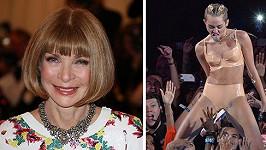 Miley Cyrus si to u Anny Vintour zavařila...