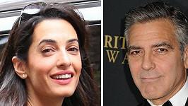Clooney a jeho partnerka Amul Alamuddin.