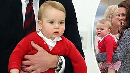 Princ George před odletem domů.