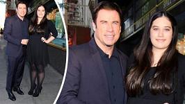 John Travolta s dcerou Ellou.