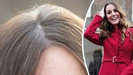 Vévodkyně Kate ukázala šedivé vlasy.