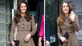 Kate Middleton nezklame ani ve stejném oblečení.