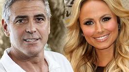 George Clooney a jeho nová přítelkyně Stacy Keibler.