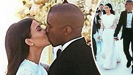 Střípky ze svatby Kim Kardashian a Kanyeho Westa spatřily světlo světa.