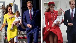 Vévoda s vévodkyní z Cambridge a synem Georgem přistáli v Austrálii.