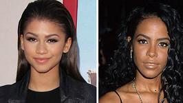 Semdnáctiletá Zendaya (vlevo) ztvární ve filmu zpěvačku Aaliyah.