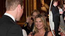 Kate Moss během rozhovoru s princem Williamem