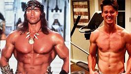 Patrick v porovnání se svým otcem Arnoldem Schwarzeneggerem