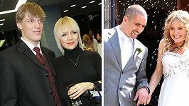 Lucie Vondráčková s Tomášem Vernerem a manželem Tomášem Plekancem