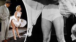 Tenhle záběr znáte z filmu. Šaty vlají pouze nad kolena.
