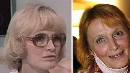 Regina Rázlová v roce 1976 a nyní