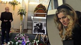 Leona Machálková na pohřbu Bořka Šípka